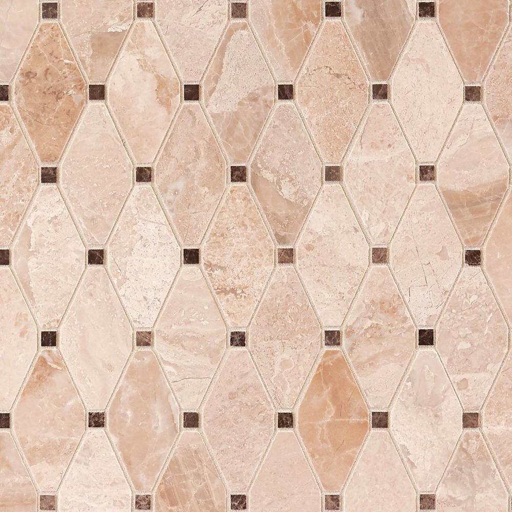 Crema Royal Diamond Polished Marble Mosaic Marble Mosaic Art