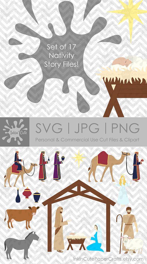 Nativity SVG Files, Bible Clip Art, Christmas svg