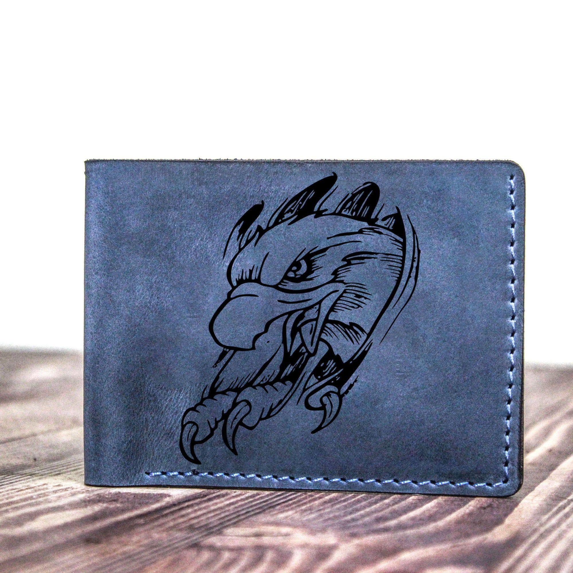 American eagle leather custom bifold wallet american