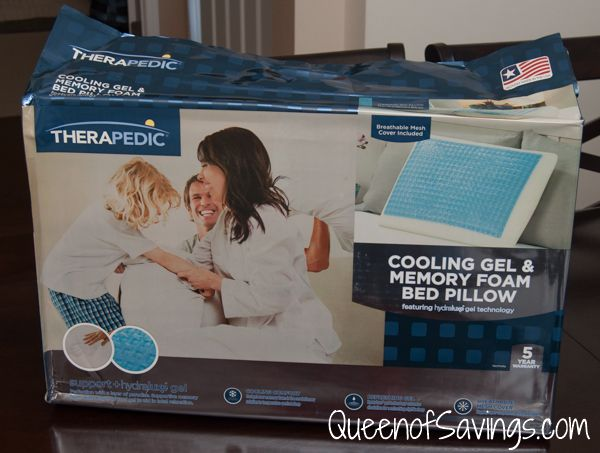 Therapedic Memory Foam Bed Pillow With Hydraluxe Gel With Images