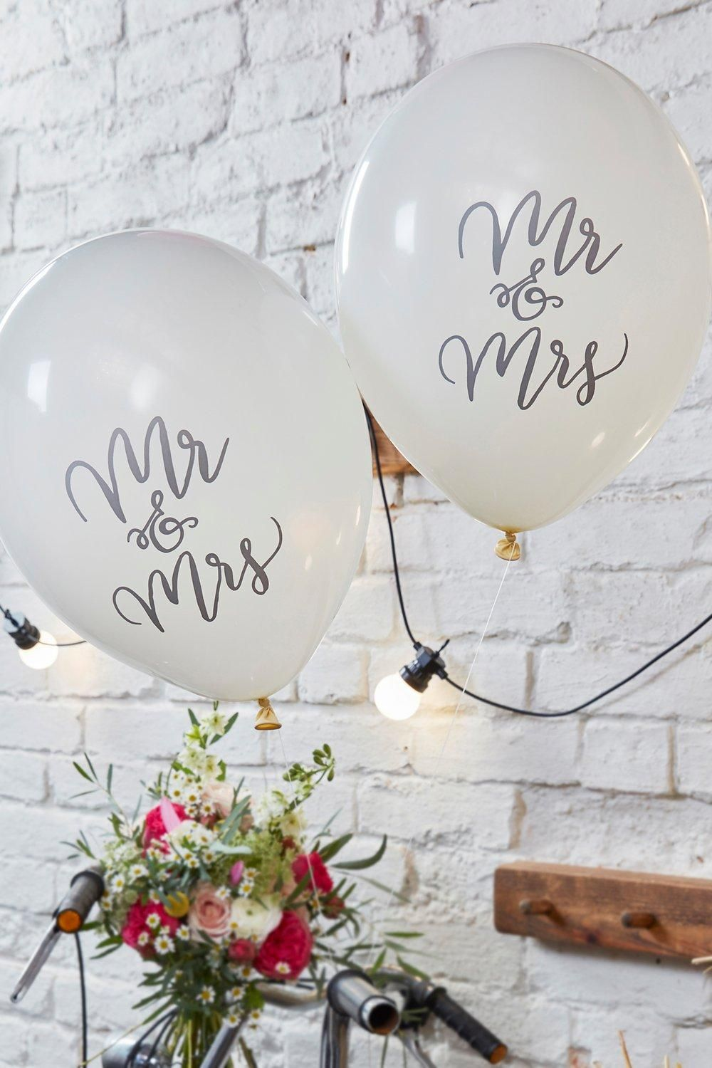 Ginger Ray Wedding Mr & Mrs Balloon 10Pck Boohoo UK Mr