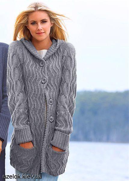 длинная ажурная кофта схема вязания жакеты кардиганы пальто