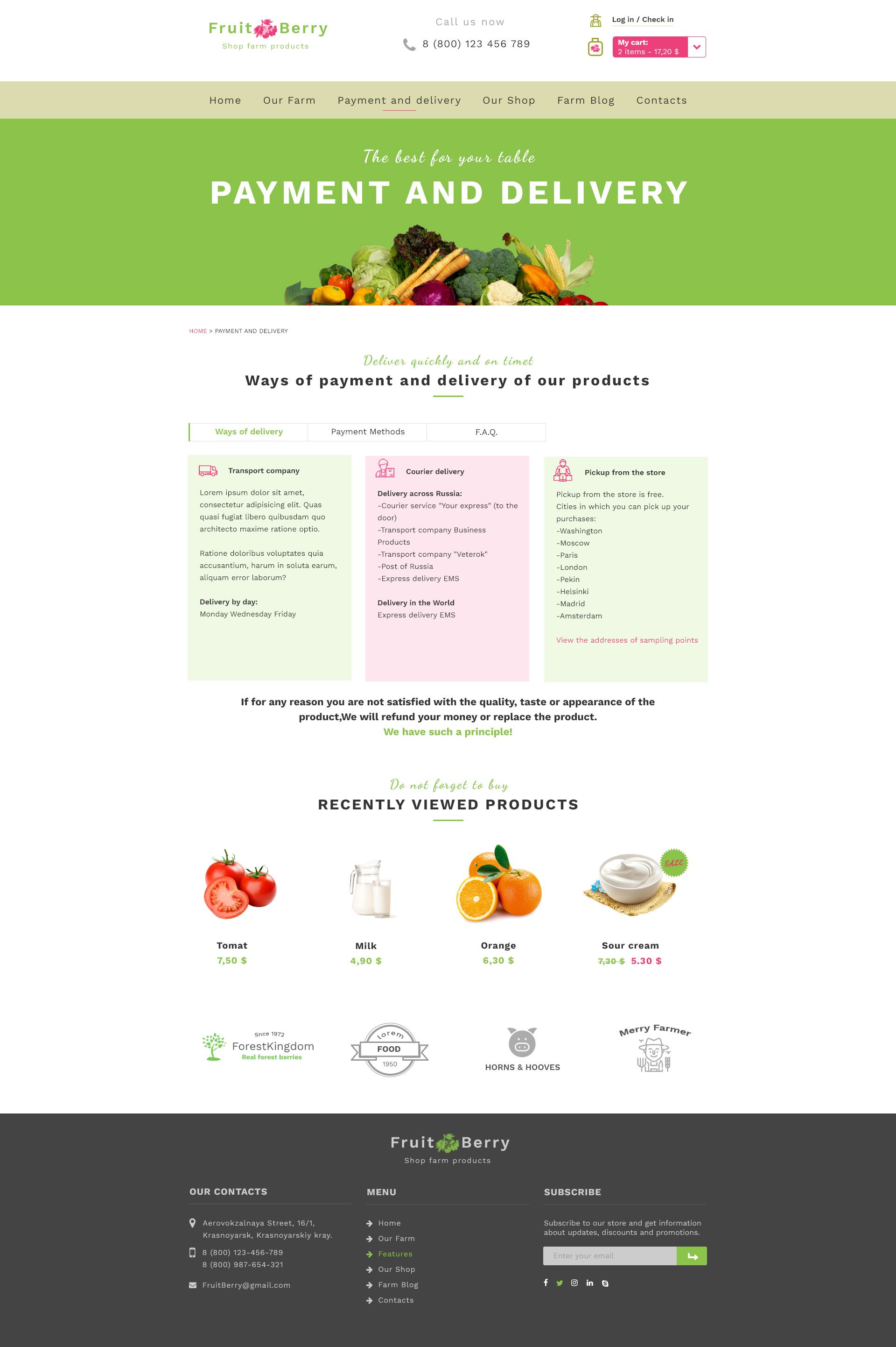 Fruit & Berry shop farm products Berries, Fruit, Farm