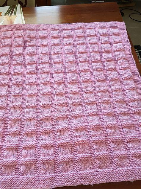 Rosa Babydecke für das Nachbarn-Baby passend im Juni #babyblanket