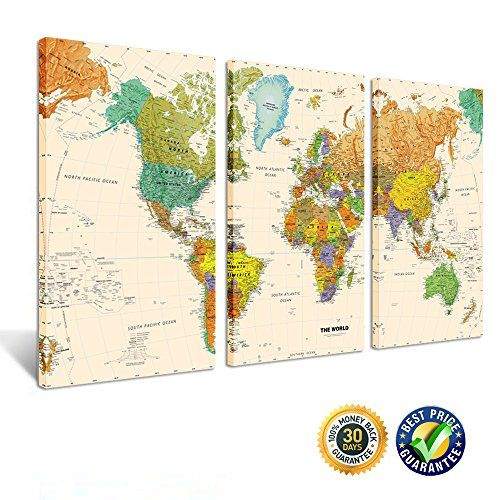 Creative art world map canvas art premium canvas art http creative art world map canvas art premium canvas art print large colorful wall art deco canvas picture stretched on wooden frame as modern gallery gumiabroncs Gallery