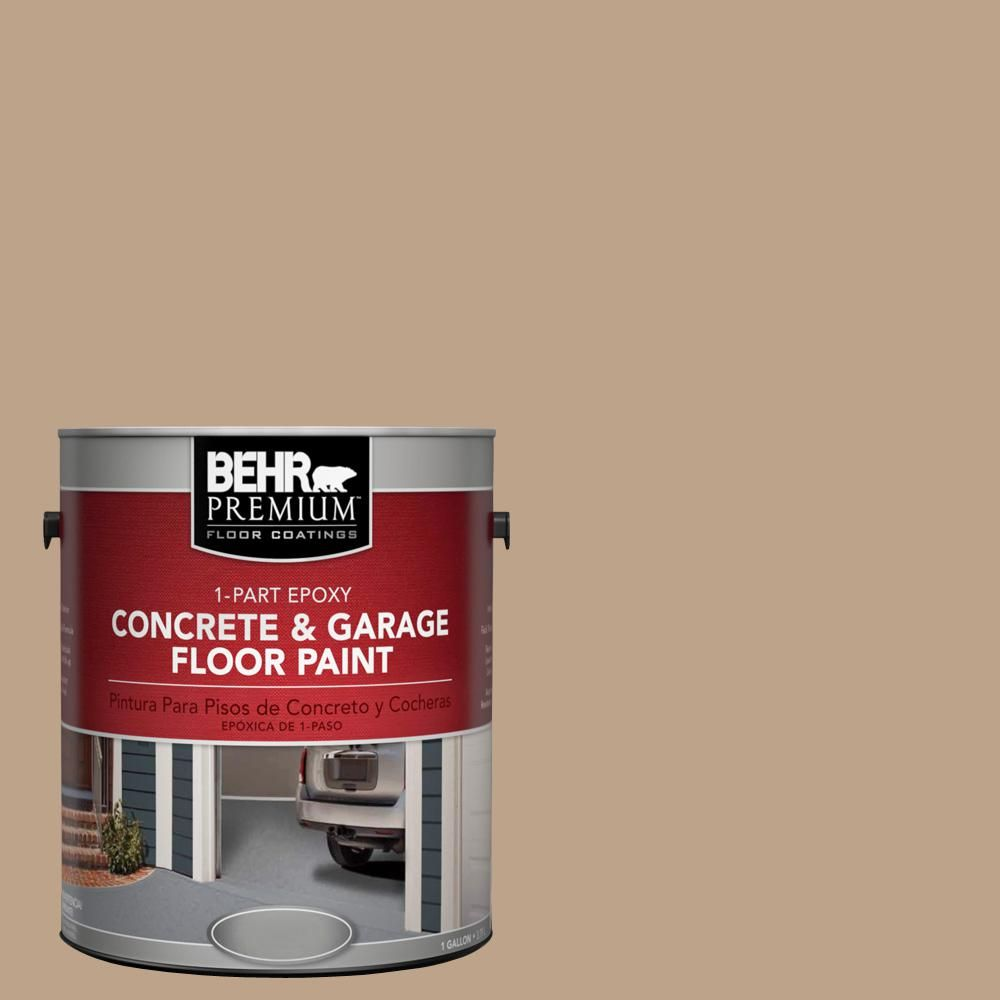Behr Premium 1 Gal N260 4 Merino 1 Part Epoxy Satin Interior Exterior Concrete And Garage Floor Paint 90001 Garage Floor Paint Exterior Paint Painted Floors