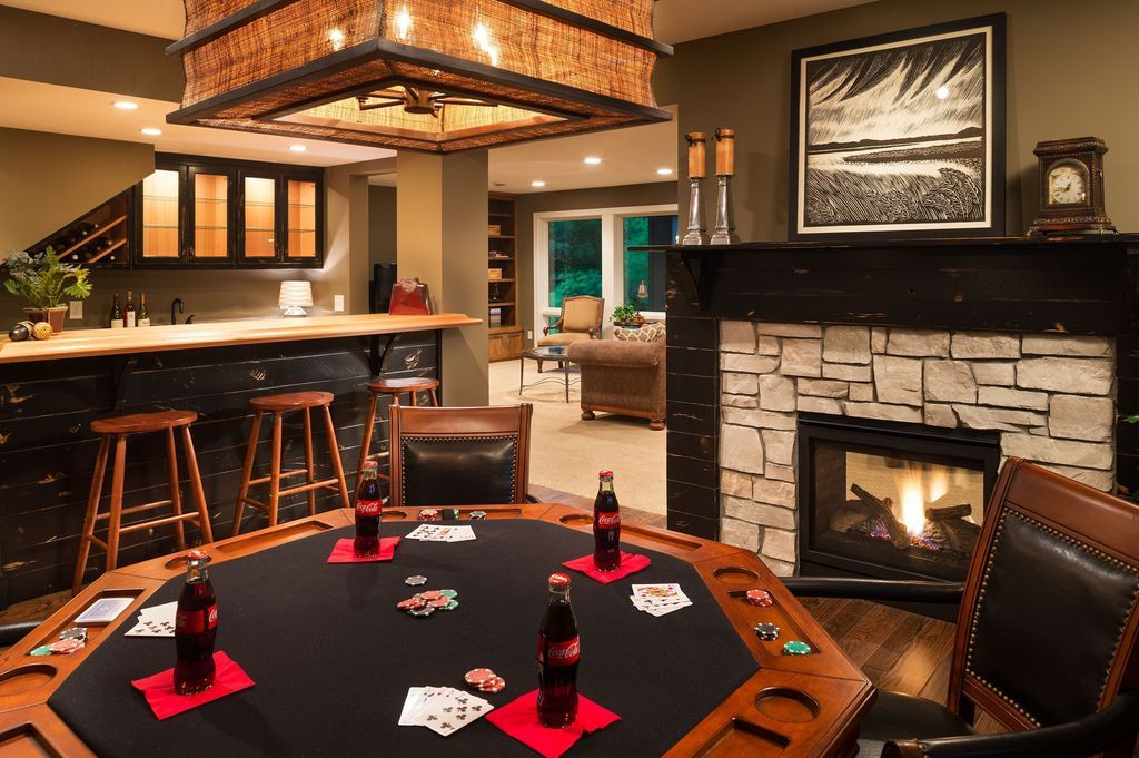 Man Cave With Fireplace : Man cave types design ideas men and game rooms