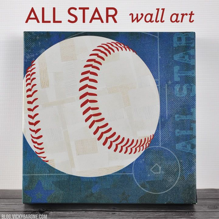 All Star Wall Art | Vicky Barone | sorts themed canvas wall art for boys room | gift ideas | personalized kids name