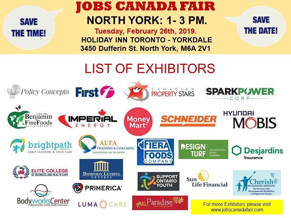 List of Hiring Companies for NorthYork Job Fair February