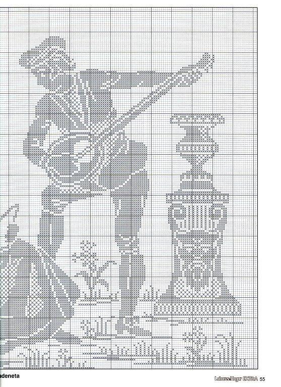 Points de croix *@* Monochrome 2 | cross stitch monochrome ...