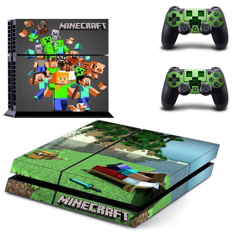 Minecraft ps4 skin decal for console and controllers dualshock – Decal Design