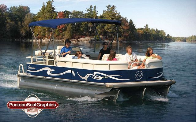 Pontoonboatgraphicsboatstripingvinyldecalsjpg Pontoon Boating - Decals for pontoon boats