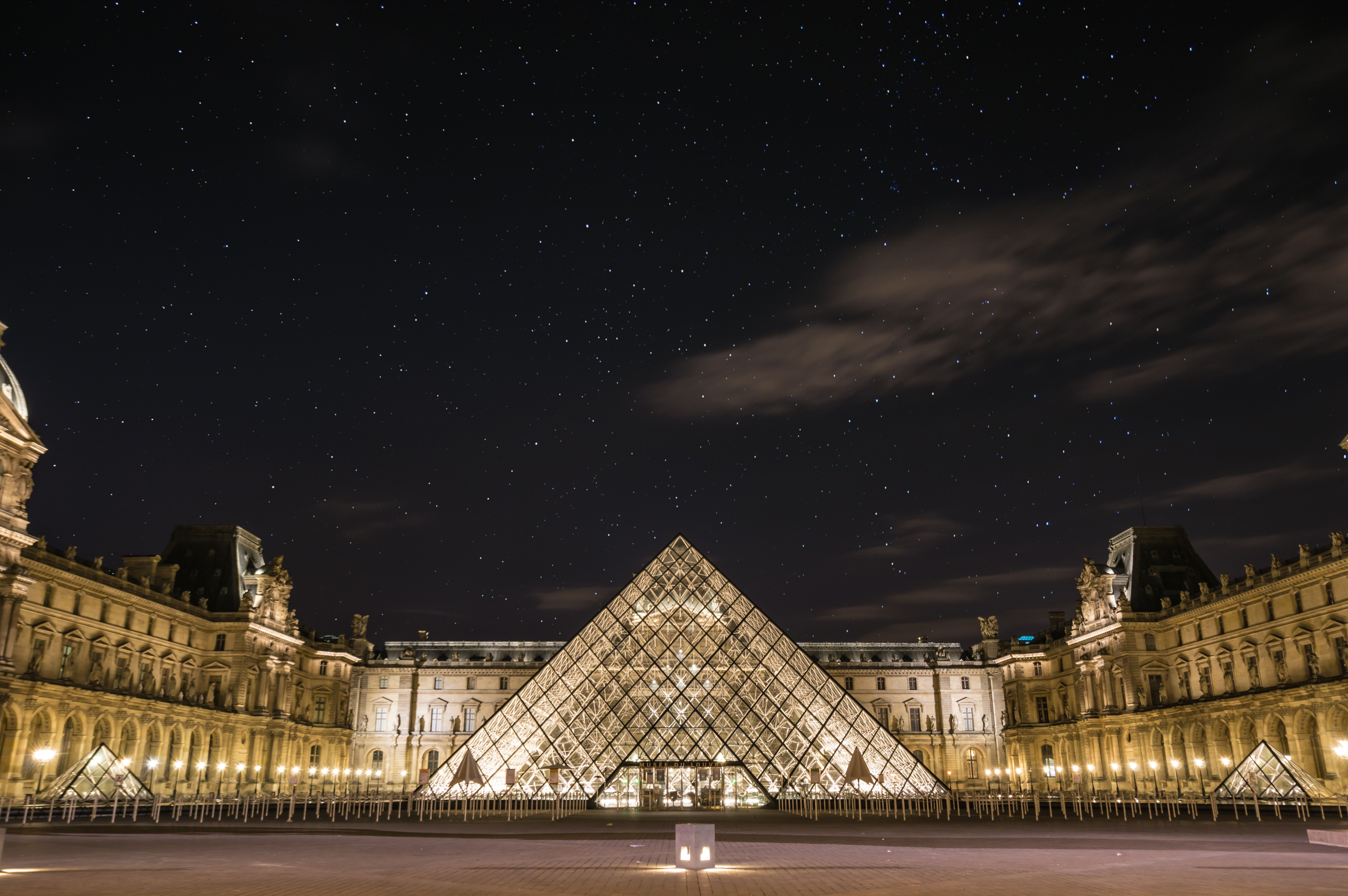 Paris E France Art Print Home Decor Wall Art Poster Louvre Museum At Night