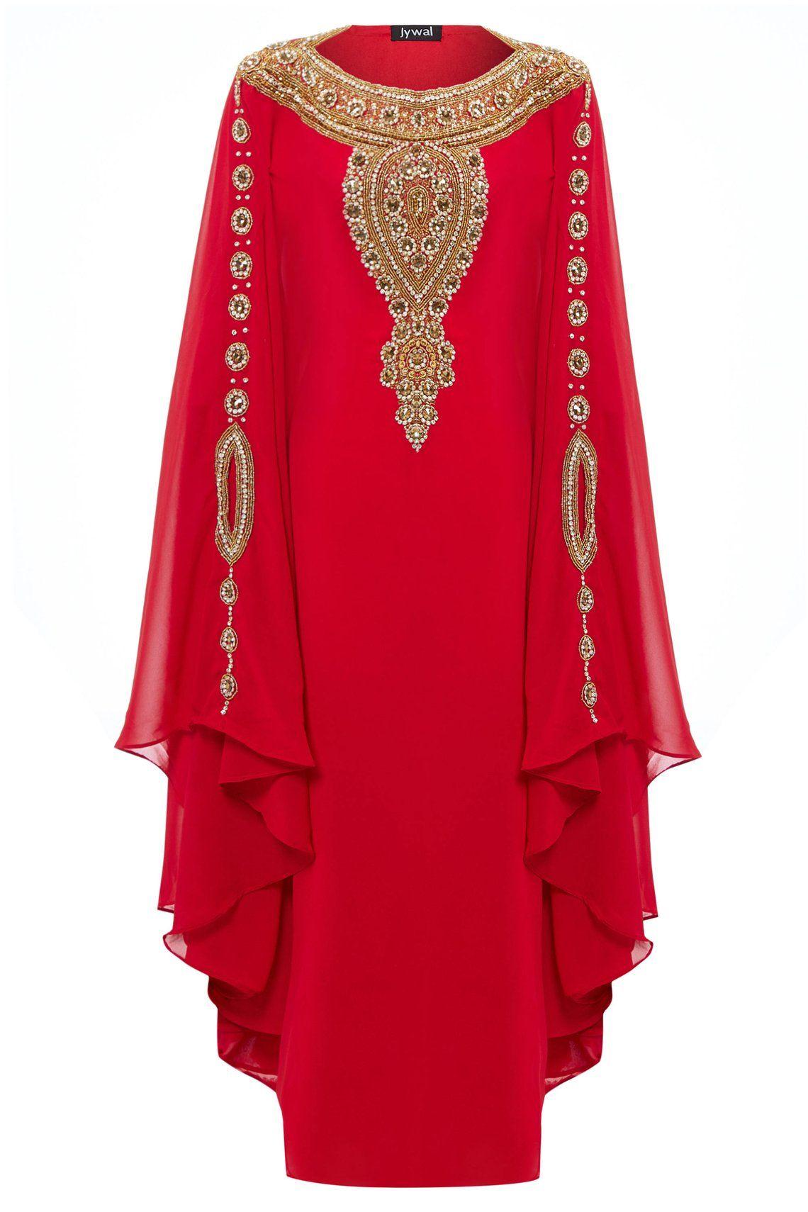 abe21efa7b Layla Abaya Caftan, Gold Embellished Kaftan Dress, Kaftan Maxi Dress ...