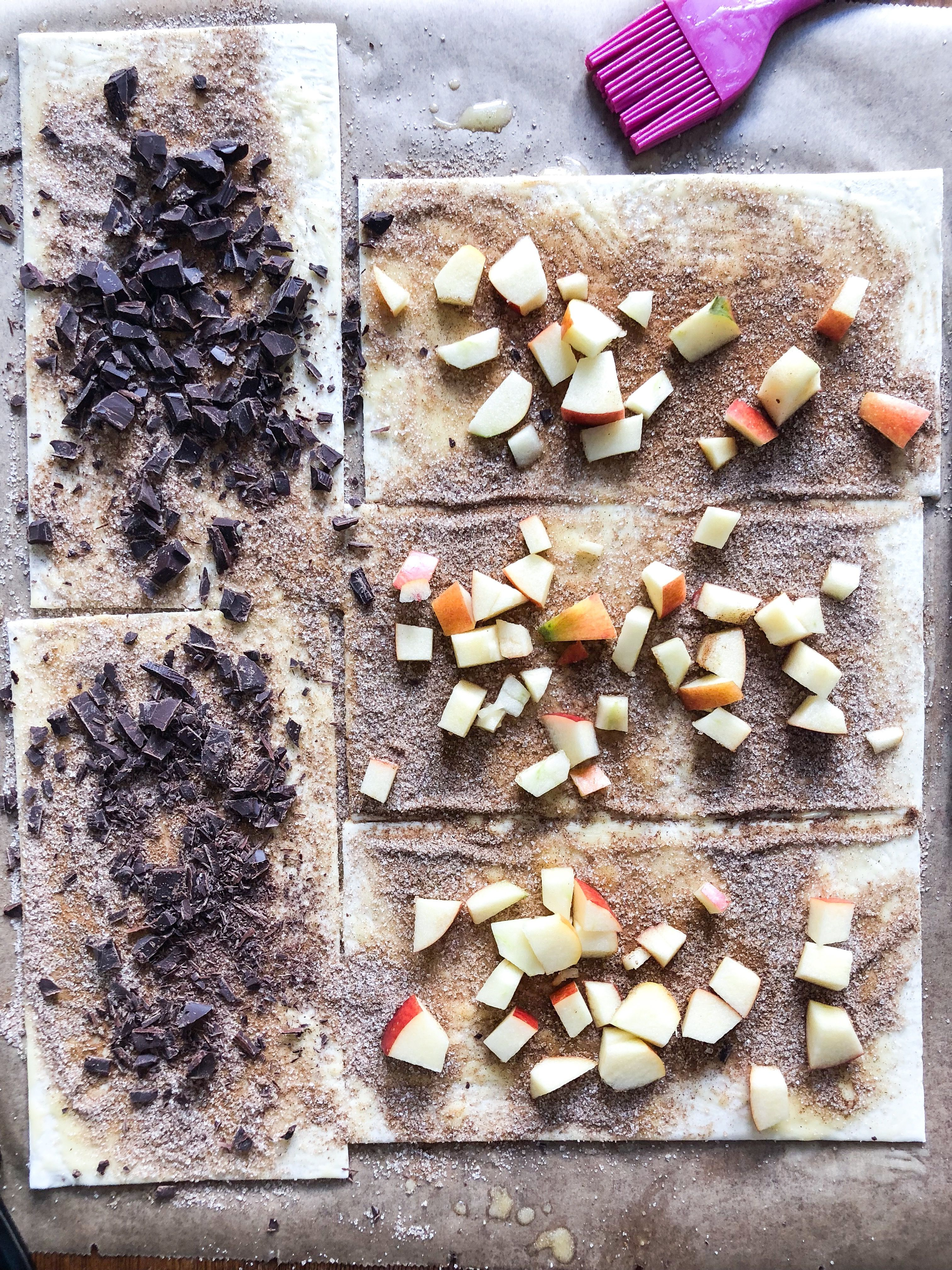 Schnelles Rezept für Zimtschnecken aus Blätterteig.