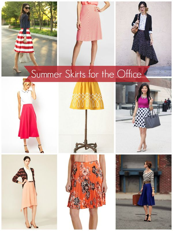 Work the Look: Summer Skirts -- perfect for the office! #fashion #office via @Eye Heure Else Women Create BUSINESS Magazine