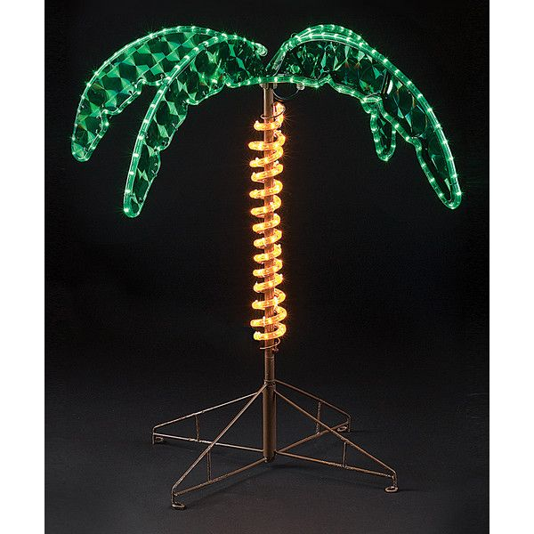 """Roman 30"""" Rope Light Palm Tree Outdoor Décor (505 NOK) ❤ liked on Polyvore featuring home, outdoors, outdoor lighting, outdoor patio lights, outside patio lights, outdoor palms, outside light and outdoor yard lights"""