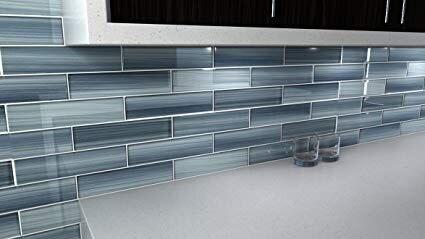 grey glass tiles glass tile backsplash