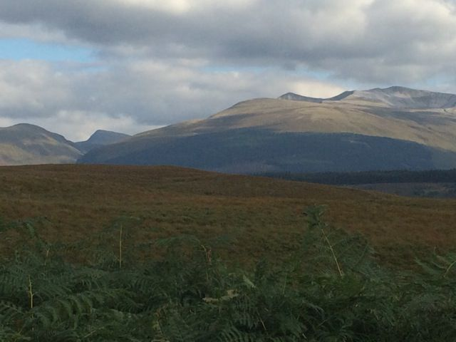 Scotland would repeatedly leave me breathless. Here's the view of Ben Nevis from outside our hotel, the Old Pines in Spean Bridge
