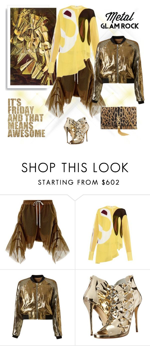 """""""Friday Night!"""" by maitepascual ❤ liked on Polyvore featuring Rick Owens, Issa, Faith Connexion, Oscar de la Renta and Yves Saint Laurent"""