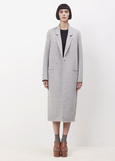 Acne Studios Grey Melange Foin Double Coat