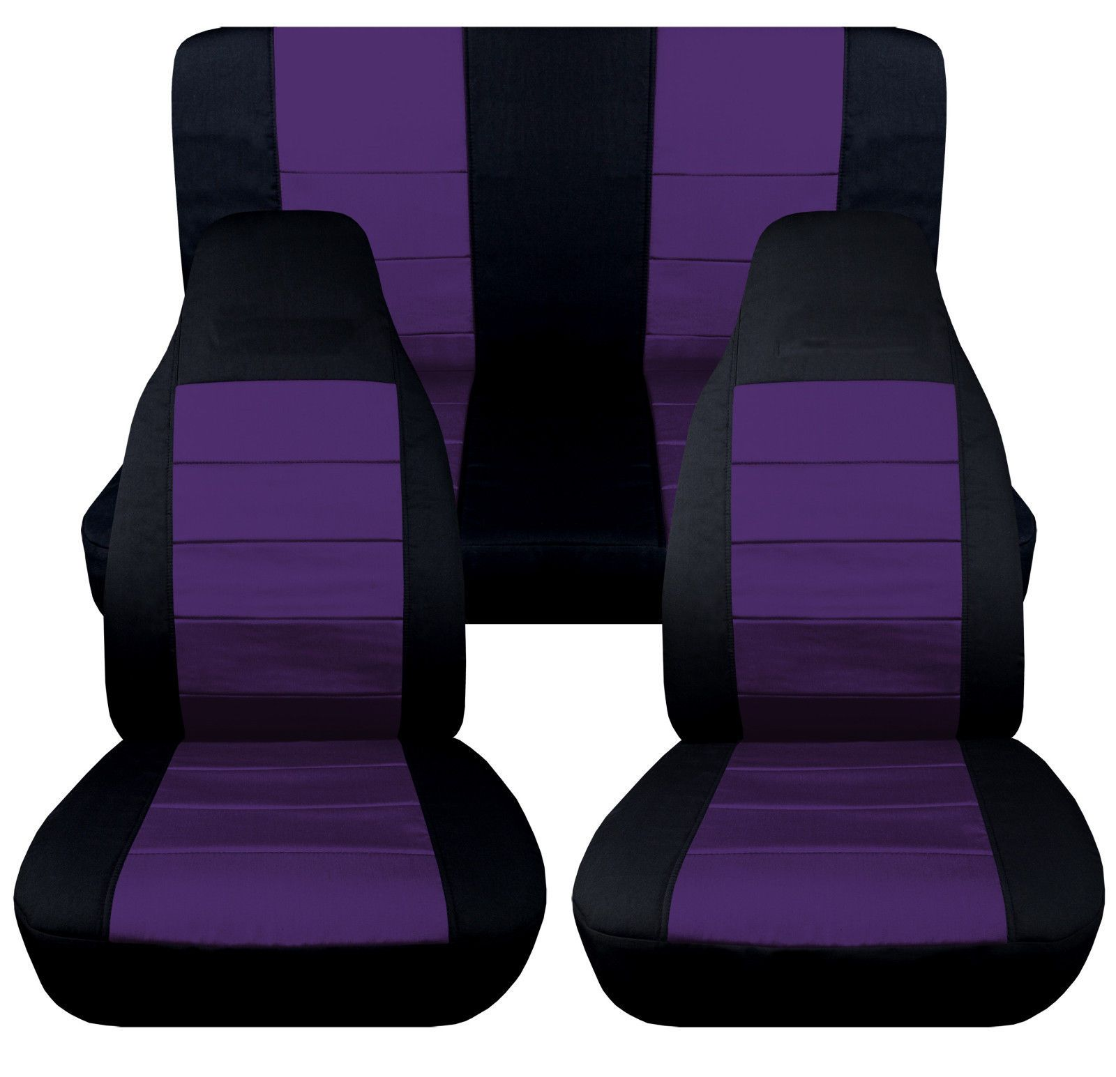 Jeep Wrangler TJ Blk Purple Front Rear Car Seat Covers Other Colors Items Avbl