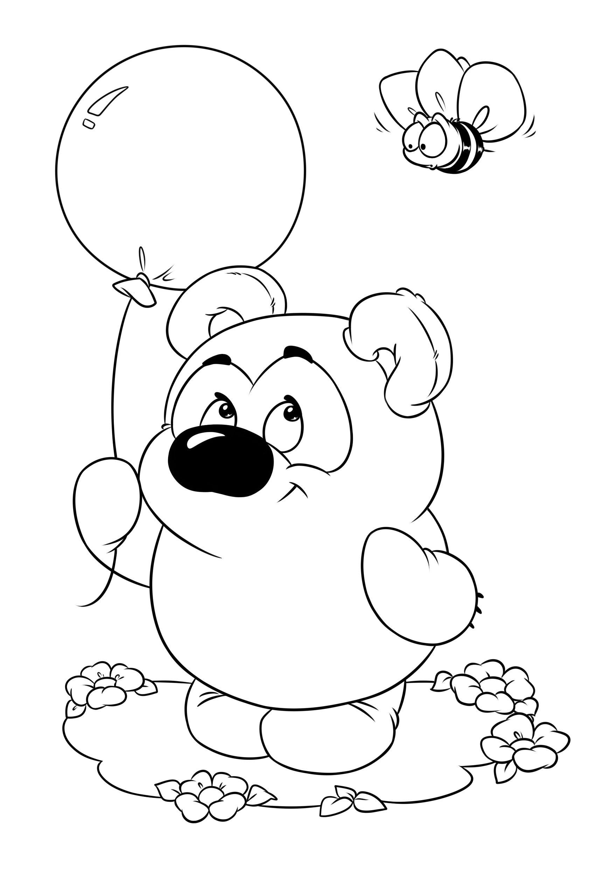 Раскраска советский мультфильм - Винни-Пух | Раскраски ...