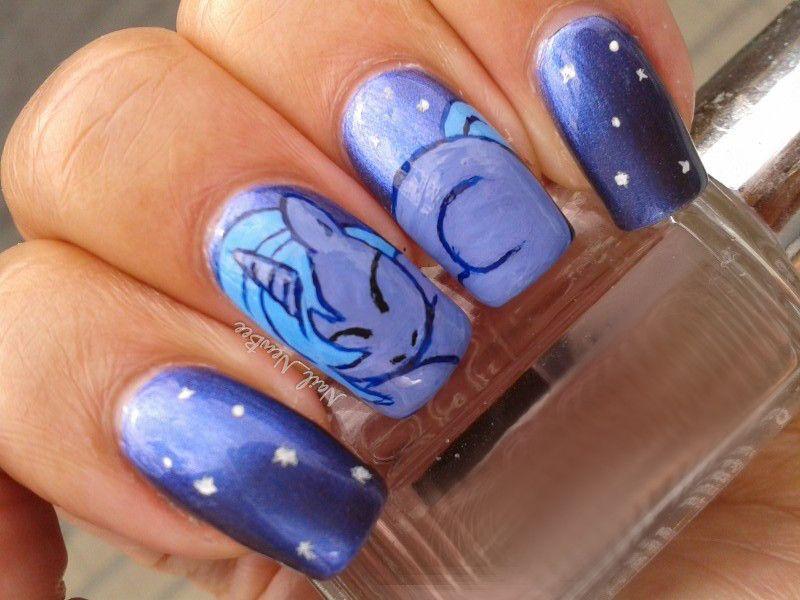 little pony nail art motionless