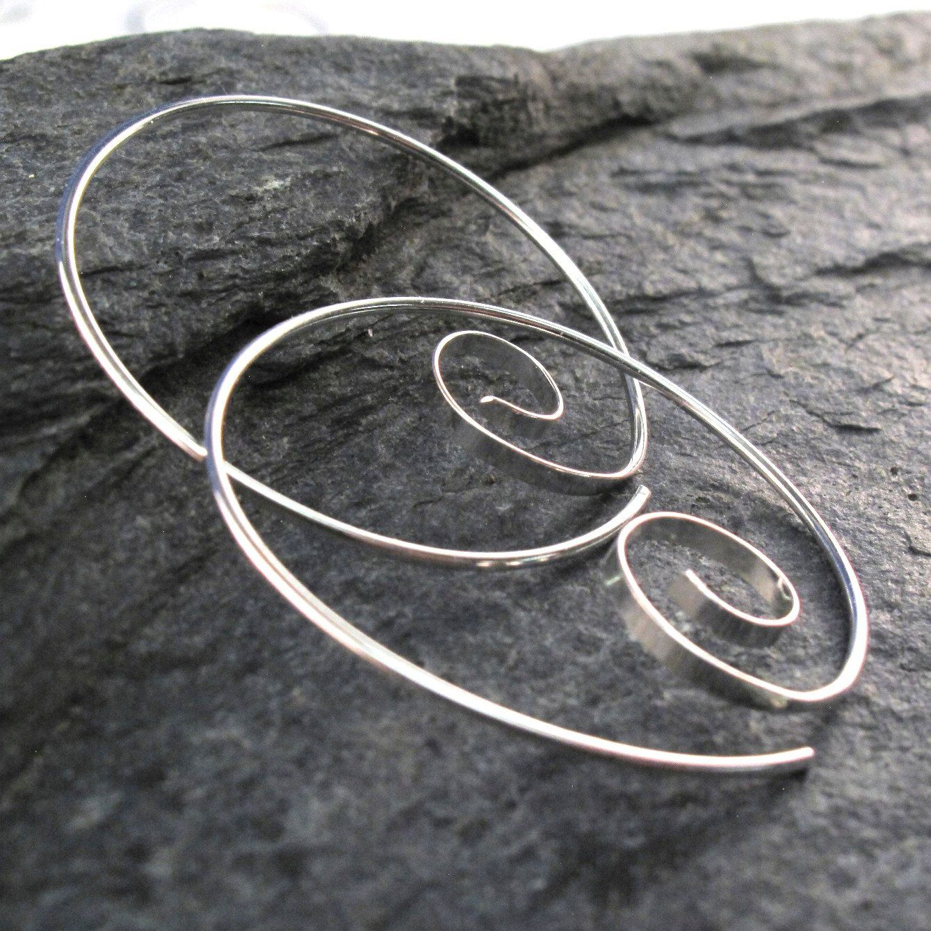 Sterling Silver Hoop Love These