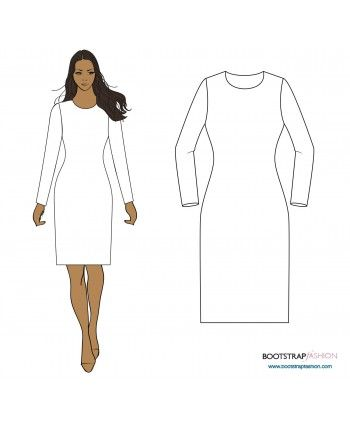 Custom-Fit Sewing Patterns - Sloper (Basic Block) For Medium Stretch ...