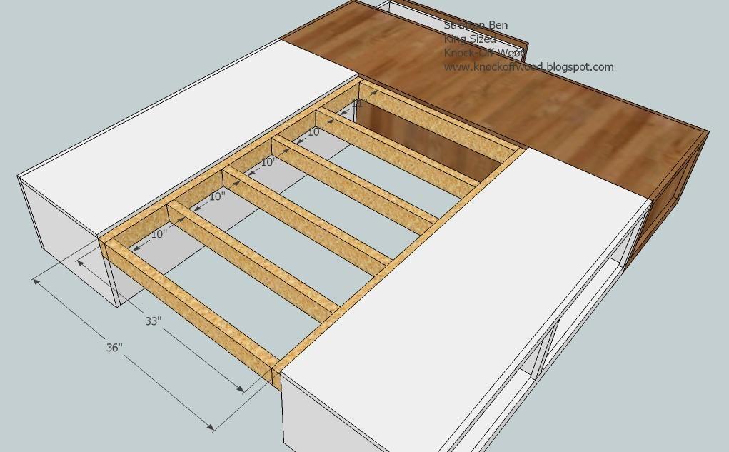 Classic Storage Bed King Diy Bed Frame King Storage Bed Diy