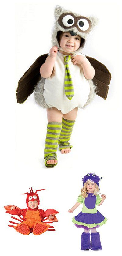 {Too cute} Plush Halloween Costumes... *Love, love, love the owl one. So sweet. #Halloween