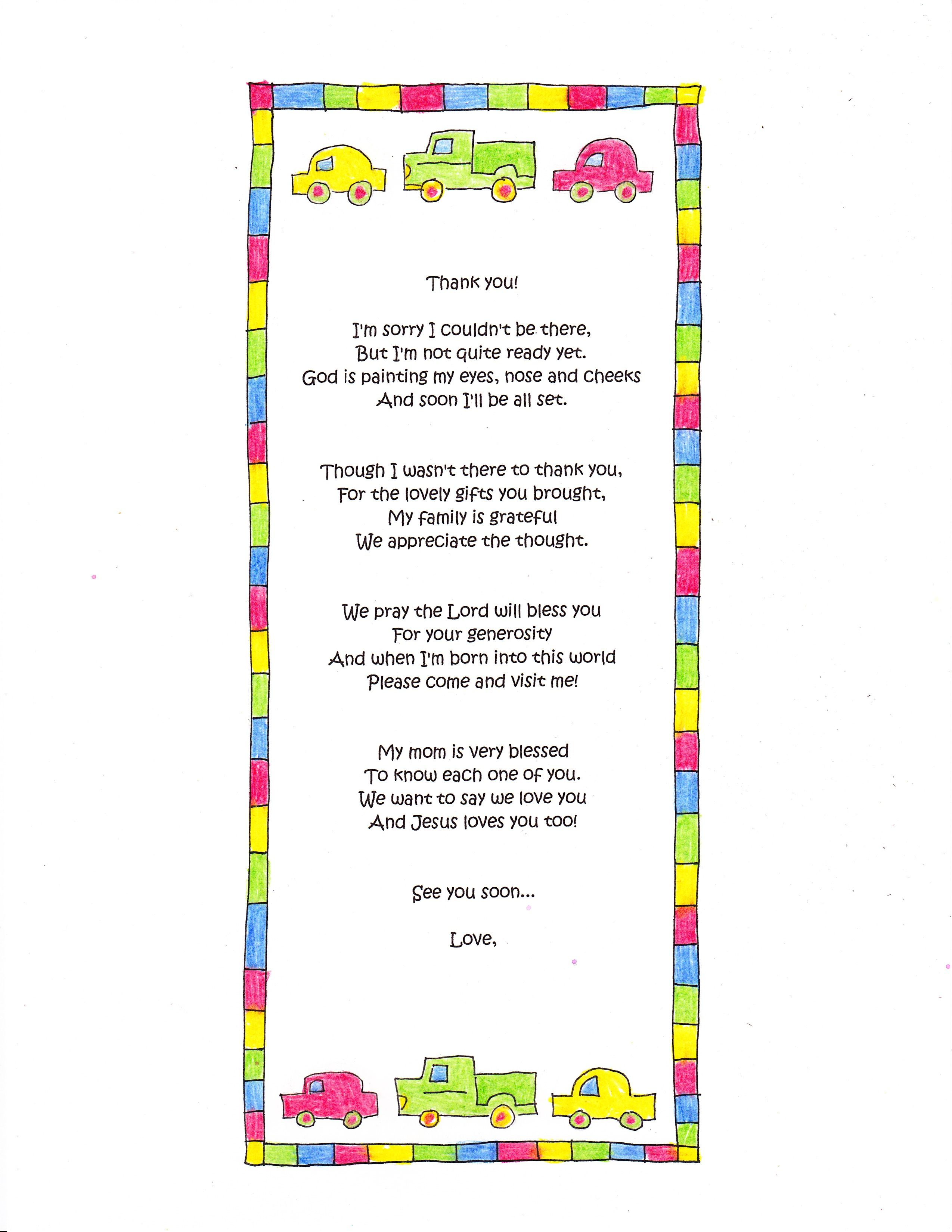 baby boy poems baby shower thank you baby shower gifts baby gifts