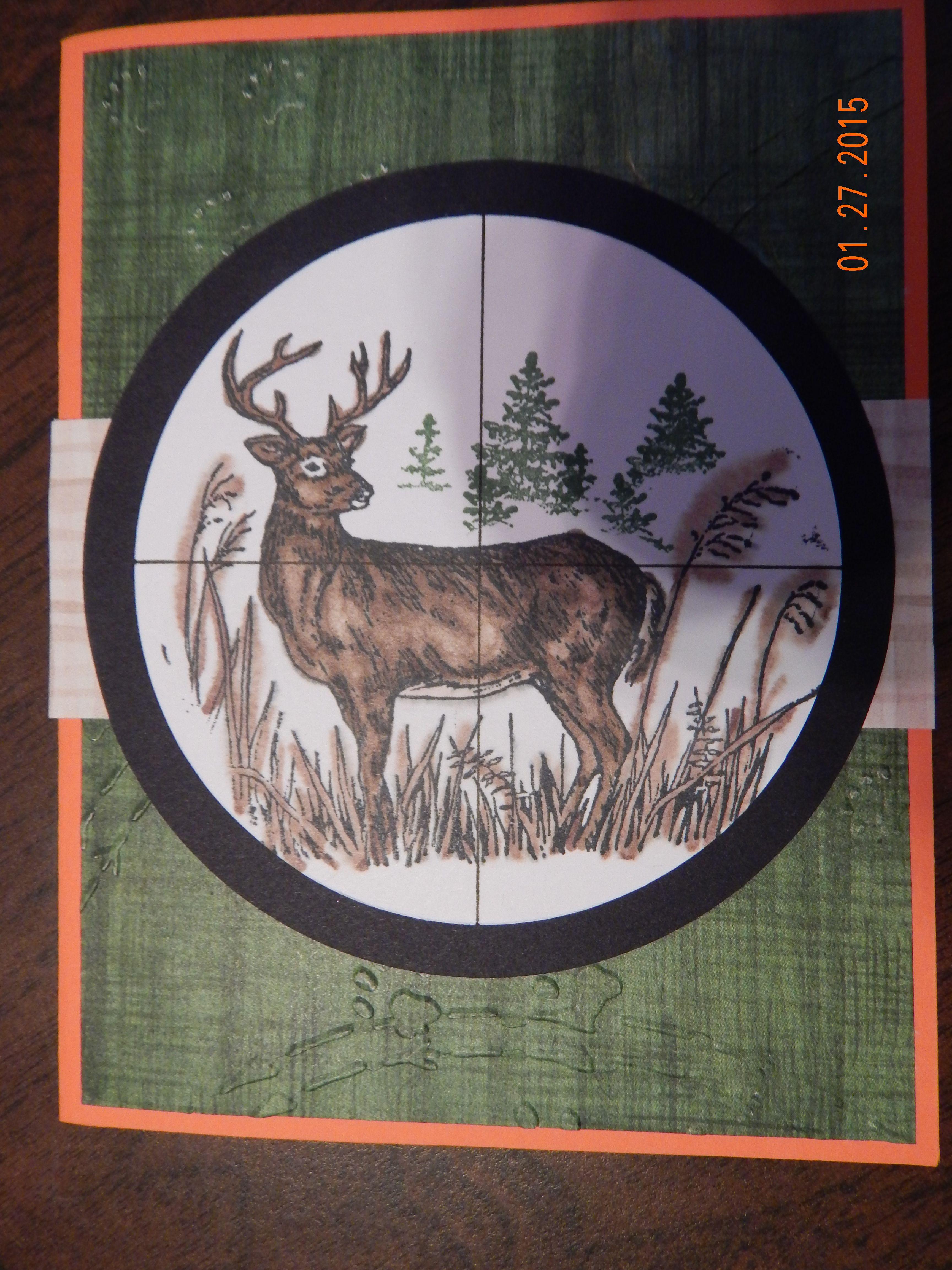 Handmade Deer Hunting Birthday Card Deer Hunting Birthday Hunting Birthday Cards Handmade