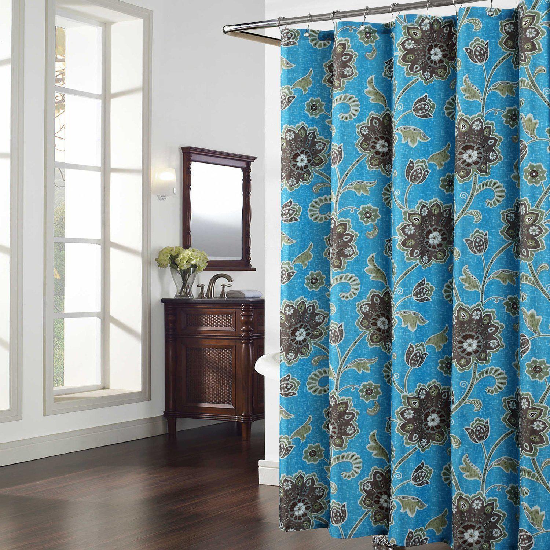 Cypress blue shower curtaingreyplants shower curtains for bathroom