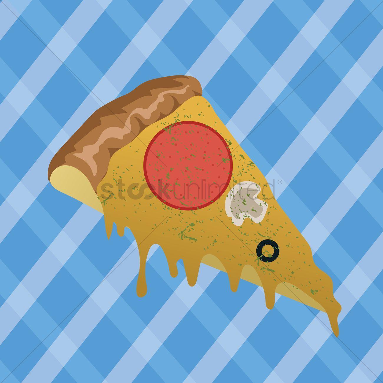Pizza slice stock vector