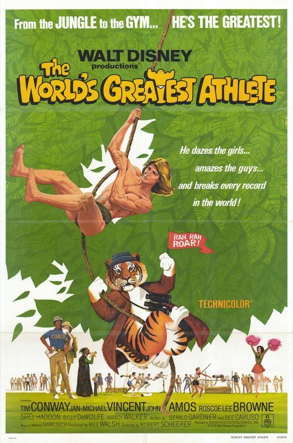 The World S Greatest Athlete Jan Michael Vincent John Amos Walt Disney Movies Classic Disney Movies Disney Movie Posters