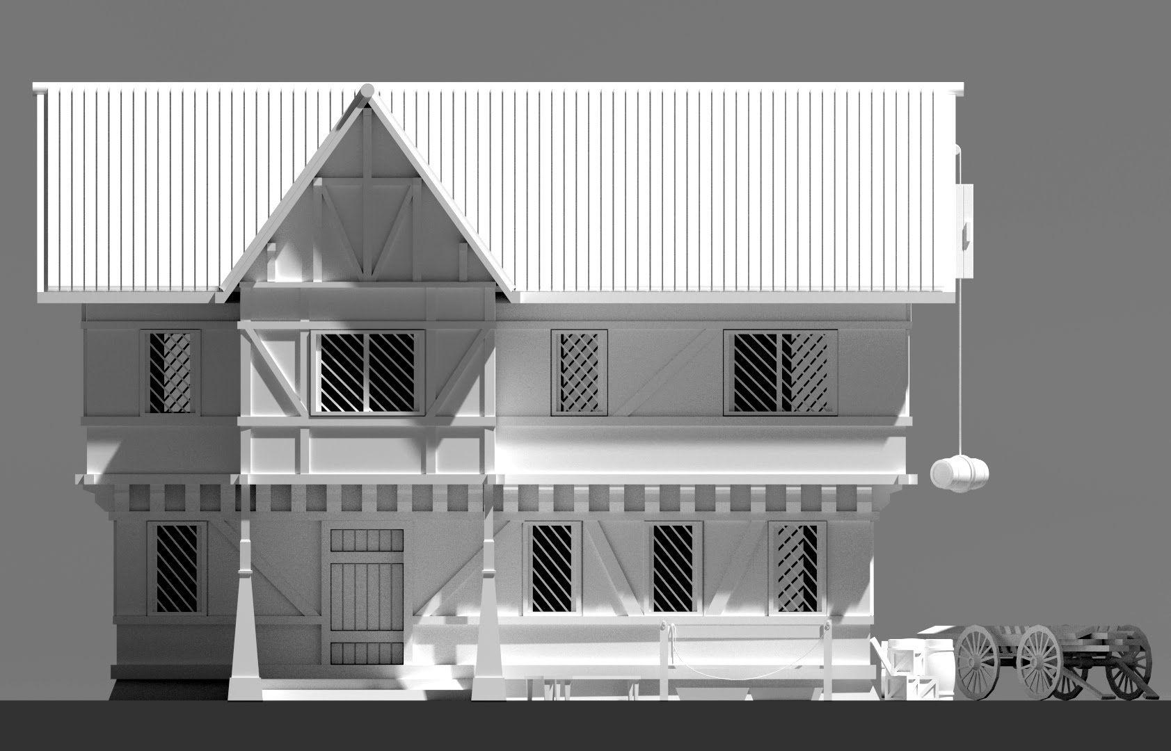 Perfect Blender 3D Speed Modeling   RPG House Exterior