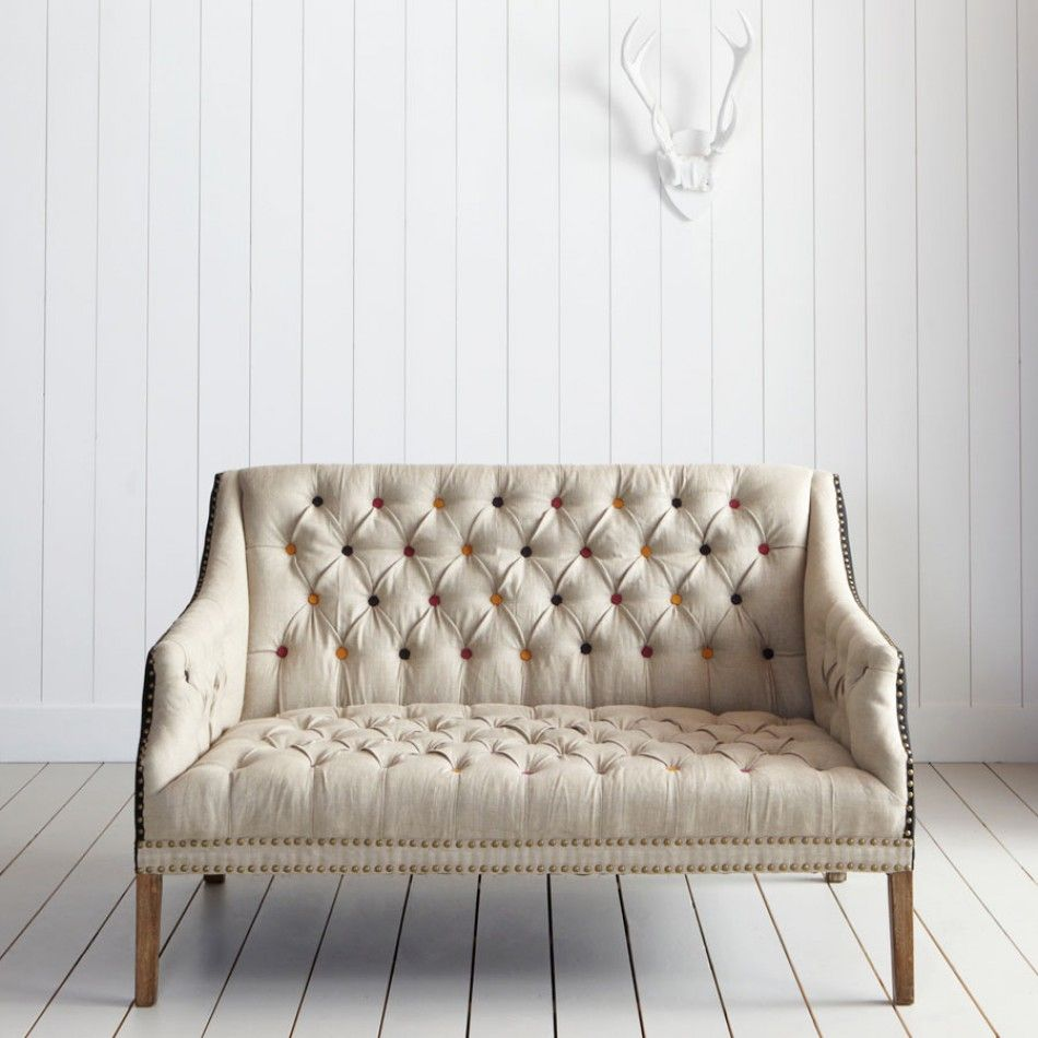 Two Seater Sofa Living Room Bath Button Back 2 Seater Sofa With Coloured Buttons Graham