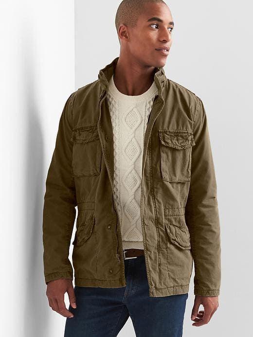 b576dadee2a62 Gap Mens Hidden-Hood Fatigue Jacket New Army Green Size XXXL ...