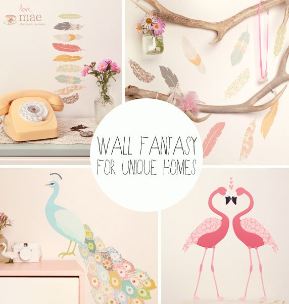 Vinilos de tela adhesivos reutilizables, biodegradables y no tóxicso para la pared de los niños de Love Mae. #LoveMae #vinilos #vinilosInfantiles #wallstickers #ninos #kids #decoration #pared #wall