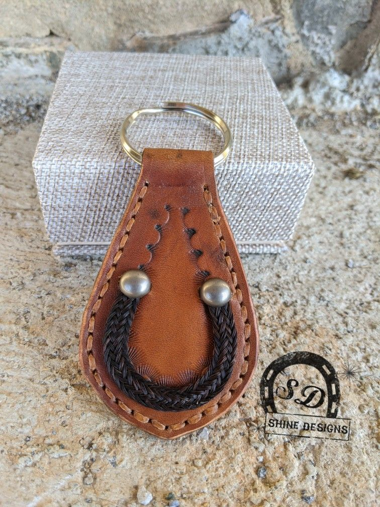 Leather horsehair Key Chain