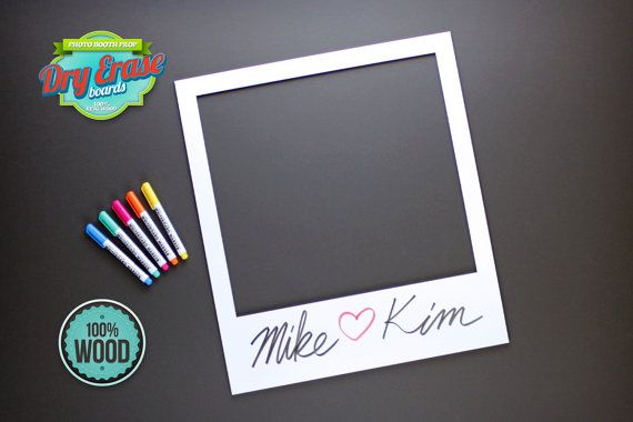 Photobooth Frame Dry Erase Photo Booth Prop. by PhotoBoothProp ...