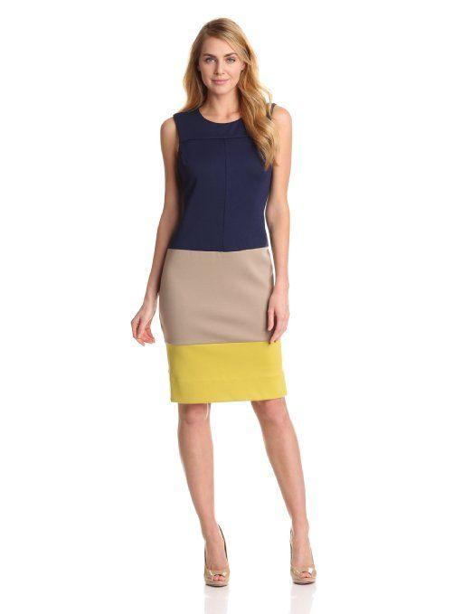 Jones New York Women's Sleeveless Colorblock Dress