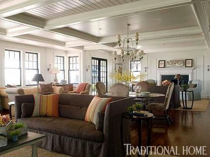 Nantucket Great Room Designed By Liz Corker Traditional Home Nantucket Home Home Shingle Style
