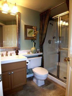 Similar Size To My Br Updated Fixtures Flooring Art Shower For Bath Ceiling Height Curtains