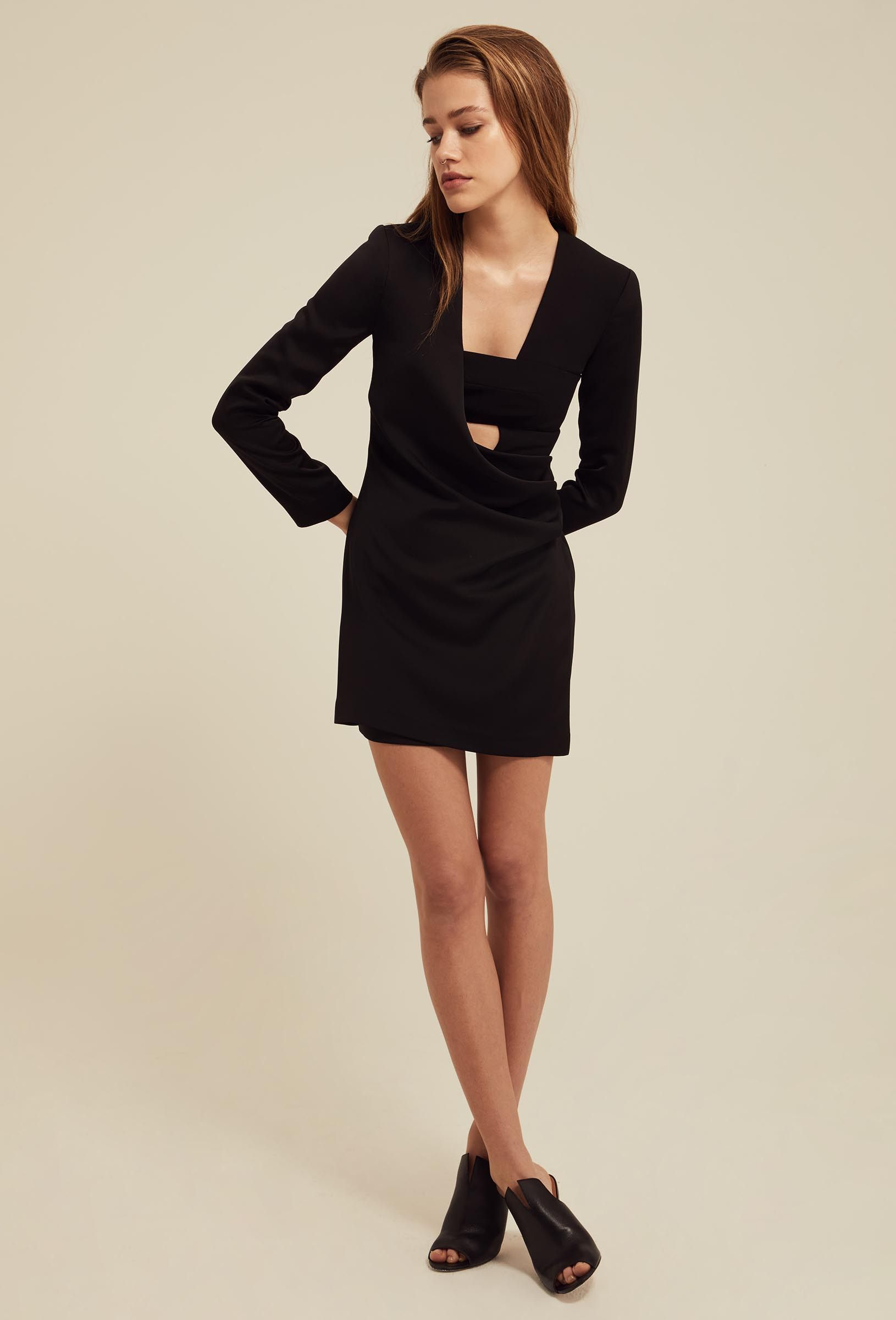 Image 5 of AQ/AQ Larah Jacket Style Mini Dress with Long Sleeves ...