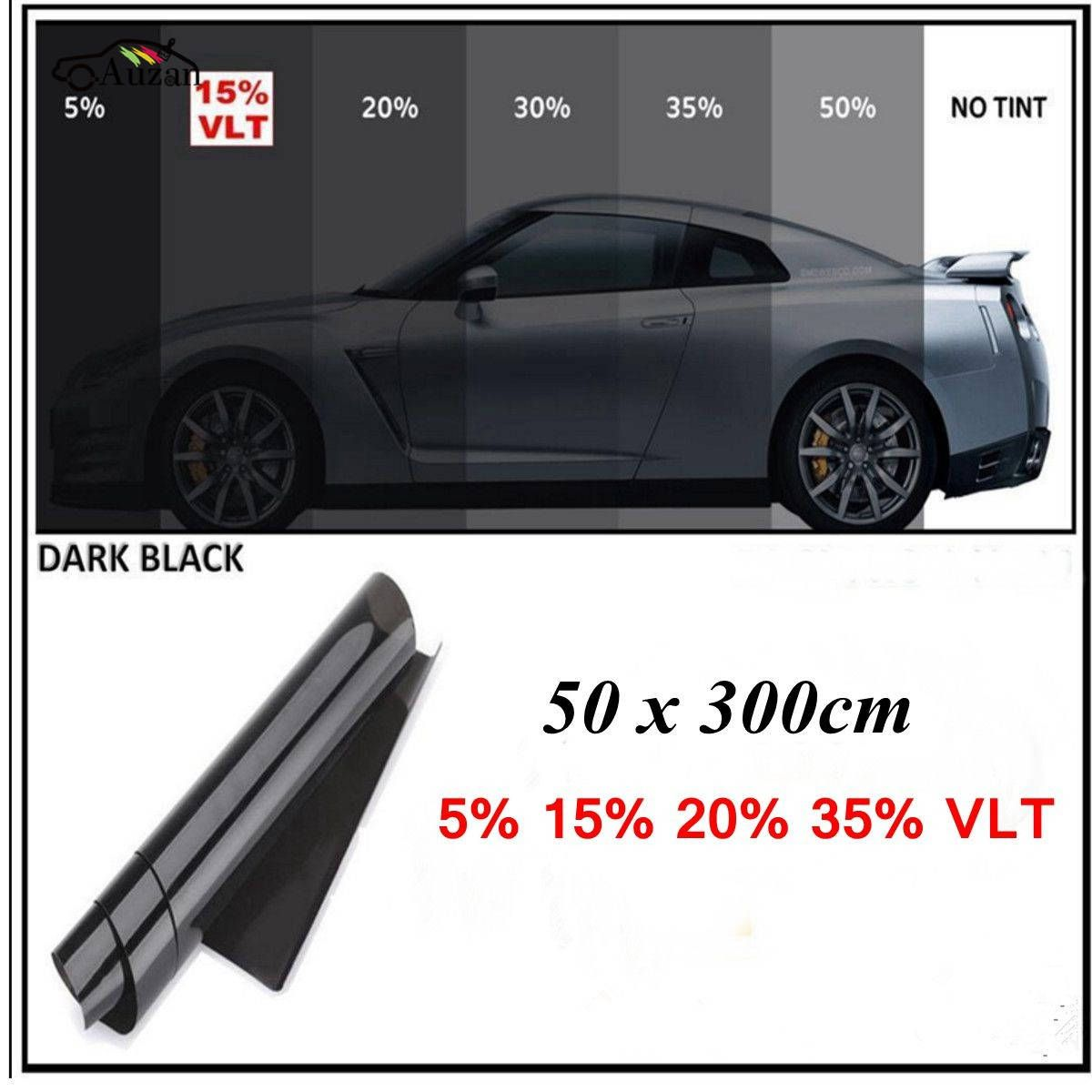 Car Window Solar Tint 300cm X 50cm Film Tinting Shade 15 Light