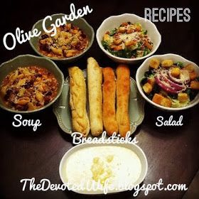 The devoted wife homemade olive garden recipes soup - Olive garden soup and salad dinner ...