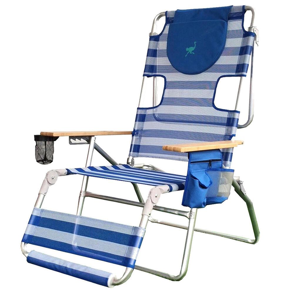 Ostrich Altitude 3n1 Beach Chair Blue White In 2021 Beach Chairs Lounge Chair Outdoor Luxury Chairs
